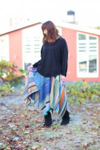 四分の三円スカート (141)